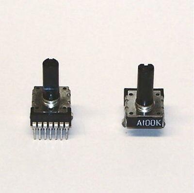 2 Pcs Lot - Potentiometer 100k Dual Audio Taper Pc Mount Stereo Pcb Trimmer New