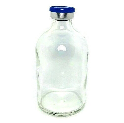 100mL Sterile Clear Glass Vial Qty: 25 - FREE SHIPPING