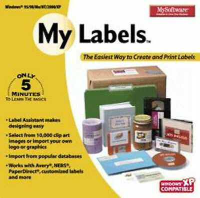 8 Barcode Label Software (My Labels  Easy to Use Designs  Fonts Clip Art Product Barcoding  XP Vista 7)
