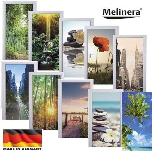 MELINERA ® Tür Dekofolie 98 x 204 New York Bambus Folie Türtapete Deko NEU OVP