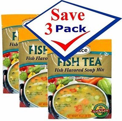 Grace Fish Tea Soup Mix 1.59 oz. Pack of 3 Free -