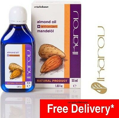 100% Pure Natural ALMOND Essential Massage Oil IKAROV Aromatherapy ANTIOXIDANT