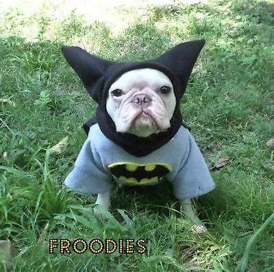 French Bulldog Boston Terrier Pug Dog Froodies Hoodies Cosplay Costume Batman