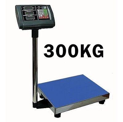 300 kg 50 g Digital Waage Paketwaage Ladenwaage Plattformwaage 40 x 50 cm #1175