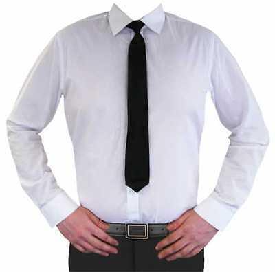 Einfache Kostüme Männlich (Einfach Schwarz mit Clip Krawatten für Hochzeit Kostüm Türsteher Sicherheit Prty)