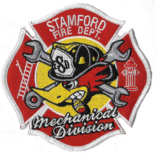 Stamford, CT Mechanical Division Woody Woodpecker NEW Fire Patch