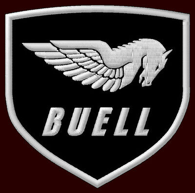 """BUELL EMBROIDERED PATCH ~3-1/2"""" x 3-3/8"""" MOTORCYCLE S1 LIGHTNING S3 THUNDERBOLT"""
