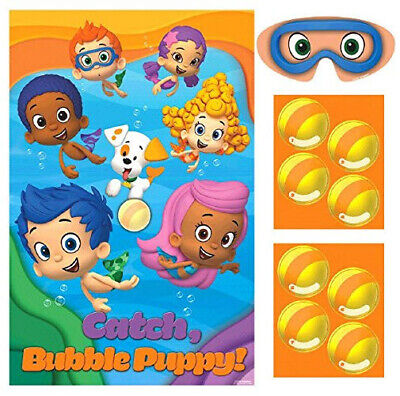 BUBBLE GUPPIES Birthday Party GAME Deema Gil 1 poster 8 stickers 1 blindfold HTF](Bubble Guppies Game)