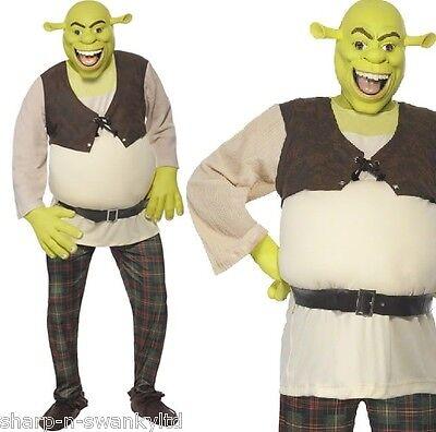 Mens Official Dreamworks Shrek Ogre Halloween Film Fancy Dress Costume Outfit ()