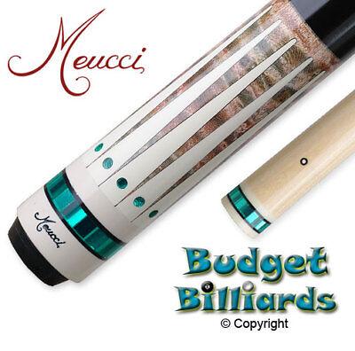 In stock Meucci BE-12 Pool cue w// Black Dot Shaft /& Free Hard Case