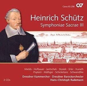 HEINRICH SCHTZ: SYMPHONIAE SACRAE III NEW CD