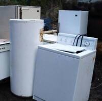 FREE REMOVAL OF SCRAP METAL AND APPLIANCES. CITY AND COUNTY