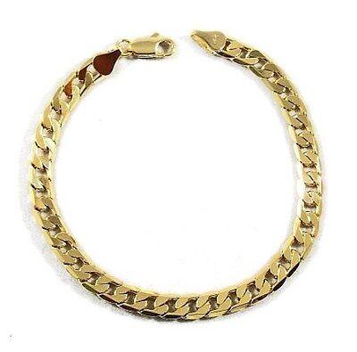 Bracelet - Mens 18K Yellow Gold Plated 8in Cuban Link Bracelet 4.7 MM