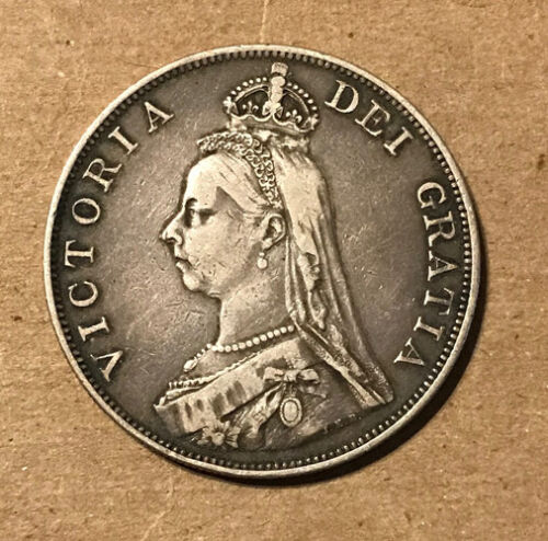 Great Britain - 1888 Large Silver Double Florin - Victoria