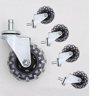 Office Chair Caster Wheels 3 Rollerblade Pvc Material 716 X 78 Set Of 5