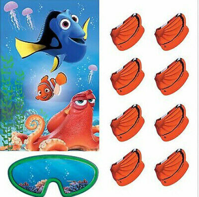 FINDING DORY Birthday Party supplies PARTY GAME poster stickers blindfold Nemo