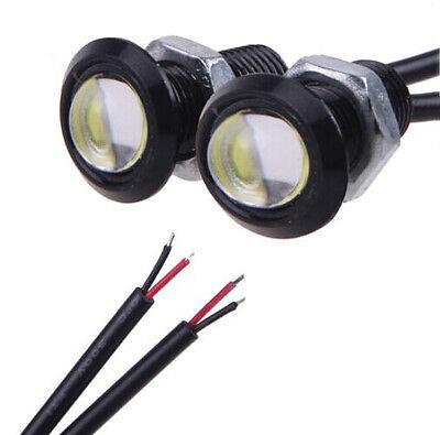 2 X 12V Motor Car 3W LED Eagle Eye White Light Daytime Running DRL Backup Lights