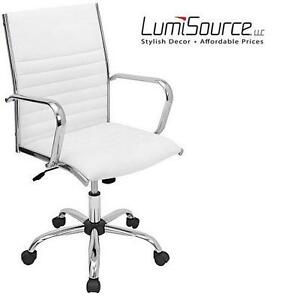NEW LUMISOURCE MASTER OFFICE CHAIR DESK CHAIR, WHITE 102167352