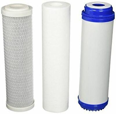 3pcs - 3/4/5 Stage NSF Reverse Osmosis RO Water Pre-Filter PP+GAC+CTO Standard