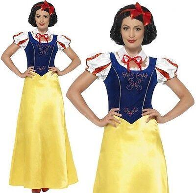 Damen Prinzessin Schneewittchen Modisches Kleid Kostüm Buch Tag Outfit von