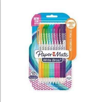 Paper Mate Write Bros. Mechanical Pencils 0.7mm Hb 2 Fashion Wraps 10 Count