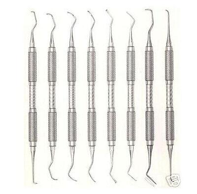 8 Goldman-fox Curettes Scalers Set Dental Instruments