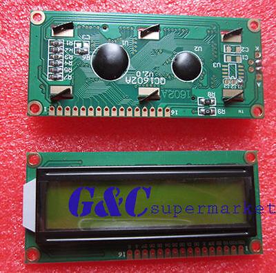 1602 16x2 HD44780 Character LCD Display Module LCM Yellow backlight