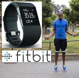 NEW OB FITBIT SURGE FIT TRACKER SM SUPERWATCH - FITNESS - BLACK - SPORTS  OUTDOORS - NEW OPEN BOX PRODUCT 109099414