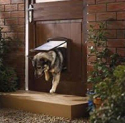 Pet Door Dog Cat Large 2 Way Flap Brown Entrance Safe PetSafe Staywell Original
