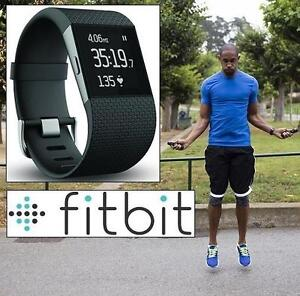 USED* FITBIT SURGE FIT TRACKER SM - 109098348 - - FITNESS - BLACK - SPORTS  OUTDOORS - SMALL