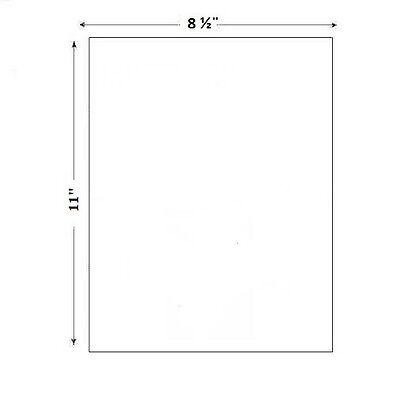 500 8.5 X 11 Full Sheet Shipping Labels Pls Brand