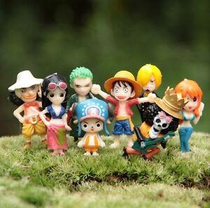 One Piece World Collectable Mini Figure 3cm Figure Set Of 8pcs