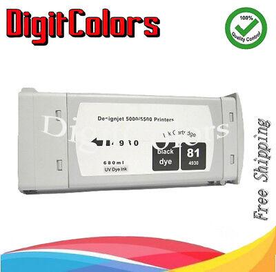 Digit Colors Dye BK Ink tank  HP 81 HP DJ 5500 5000  HP No.81 -