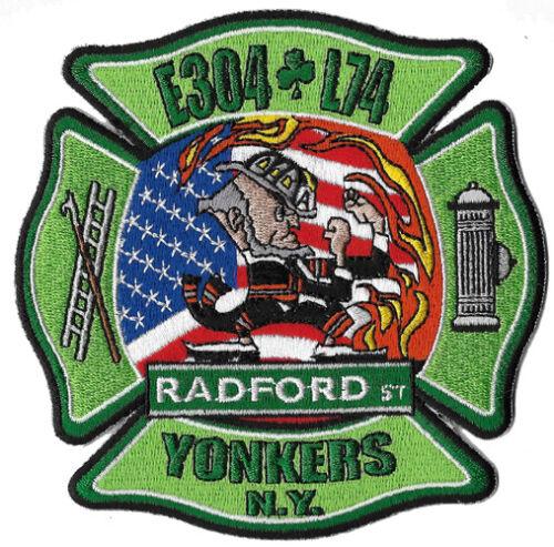 Yonkers, NY Engine 304 Ladder 74 Fightin Irish Patch