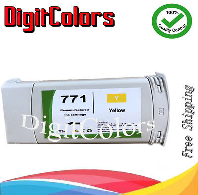 775ML Remanufactured HP 771 Yellow Z6200 B6Y18A HP771 Ink Cartridge