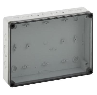 SPELSBERG - 137-011 - IP66 TK POLYCARBONATE ENCLOSURE METRIC KNOCKOUT CLEAR LID