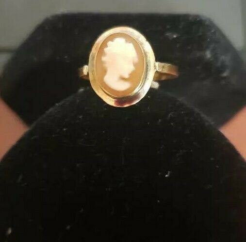 14K Gold Vintage Cameo Ring