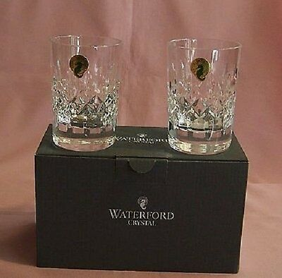 WATERFORD THERESA WHISKEY TUMBLER PAIR 40009322 BRAND NEW IN BOX CRYSTAL RARE FS