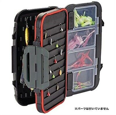 New Rapala Utility Ice Jig Box 4.75in x 4in x 2in Small Black RUBS