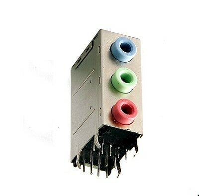 3-fach Audio Buchse 3,5mm PC Jack Line-IN/OUT Mic. Mainboard 3 Ports back panel 3,5-mm-pc
