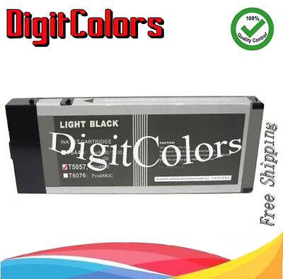 - Light Black Pigment Ink Cartridge Light K Fits Stylus Pro 4800 T5657