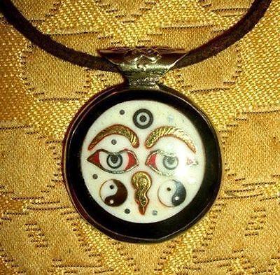 Pretty Silver Buddha-Amulett from Nepal Buddha