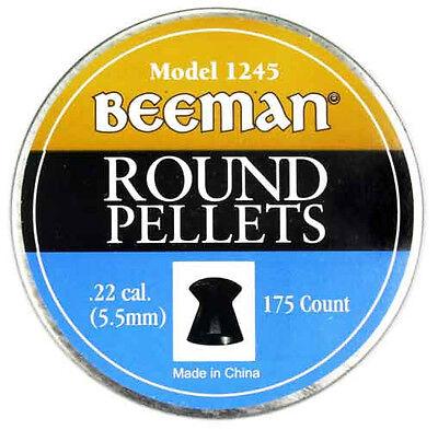 4b64d2d534 Marksman Beeman 175 PACK of .22 Caliber ROUND PELLETS 1245 NEW