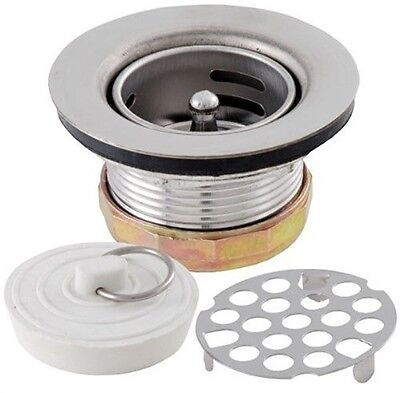 LDR 501 1800 Three in One Bar and Prep Sink 2'' Drain Set Stainless Steel Constr