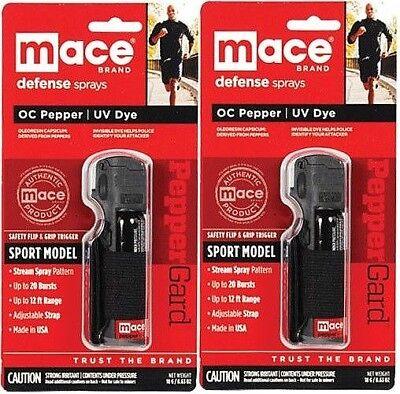 (MACE Brand Sport Model Pepper Spray-Lot of 2 Jogger Running Walking Model 80329)