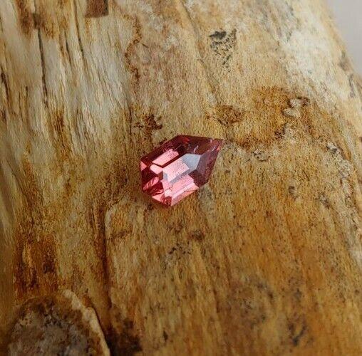 Tunduru Garnet Custom Shield Cut Imperial Pink ish color 1.05ct 8.15x4.75mm