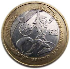 RARE... 2002 spirit of friendship Manchester £2 coin. Great condition welsh flag