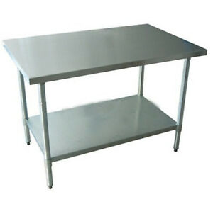 30 x 48 Restaurant Stainless Steel Food Work Prep Table New NSF