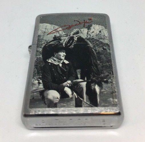 🇺🇸RARE Zippo John Wayne The Duke💨🔥WindProof Lighter Collectors Collection