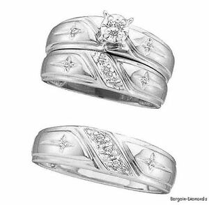 christian wedding rings sets 20 carat 3 ring 10k white gold wedding band set 2924